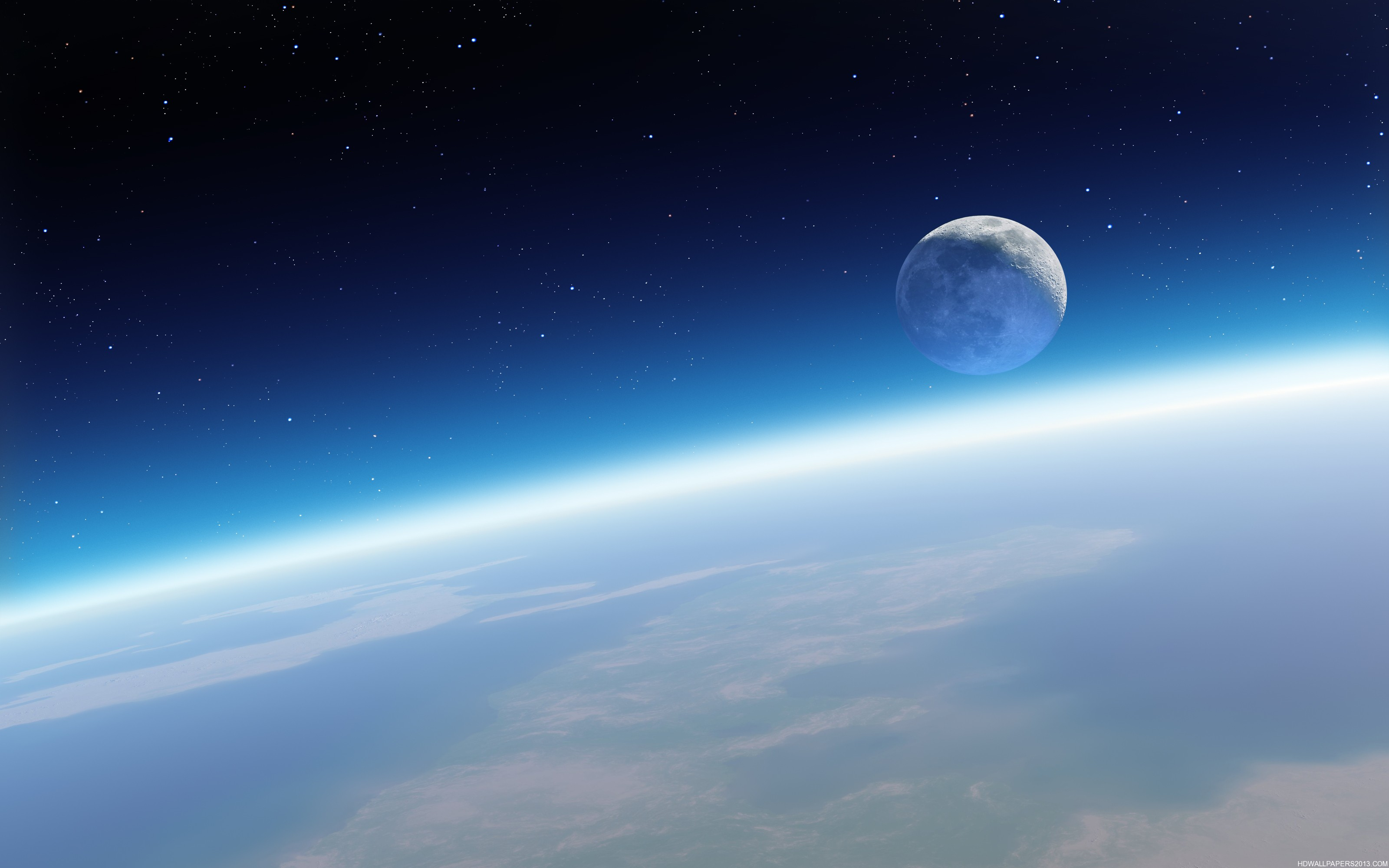 Earth Atmosphere and moon 1